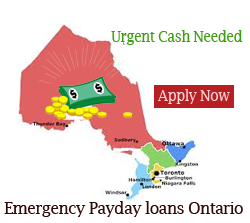 Require cash to deal with an emergency Payday loans Ontario