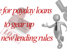 time for payday loans to gear up with new lending rules